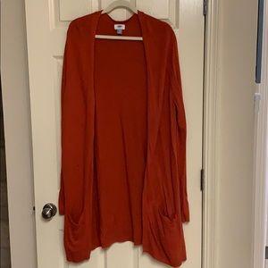 Orange super long cardigan long sleeve sz XXL Tall